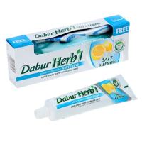 Зубная паста Dabur Herbal Salt and Lemon (с солью и лимоном).