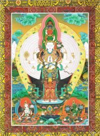 Открытка Тысячерукий Авалокитешвара (23,5 х 17,5 см).