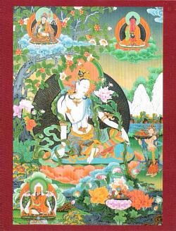 Открытка Авалокитешвара Касарпани (8,5 x 11,5 см).