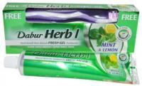 Зубная паста Dabur Herbal Mint and Lemon (мята и лимон).