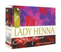 Краска для волос на основе хны Lady Henna (Бургунд, тон 6).