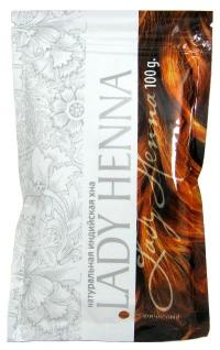 Натуральная индийская хна Lady Henna (коричневая), 100 г.