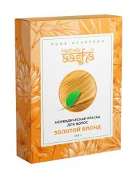 Аюрведическая краска для волос Herbals AASHA (Золотой блонд).
