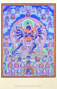 Плакат Шри Чакрасамвара в окружении божеств мандалы (согласно традиции Луипы) (28,0 x 43,5 см).