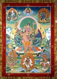 Плакат Ваджрапани Яб-Юм в традиции Хека Линпы (21,0 x 29,0 см).