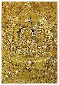 Открытка Манджушри (желтая, 7 x 10 см).