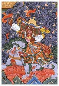 Открытка Дорже Легпа (фиолетовый фон, 7 x 10 см).