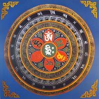 Плакат Мандала Ом Мани Падме Хум Хри (30 x 30 см).