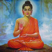 Плакат Будда (30 x 30 см).