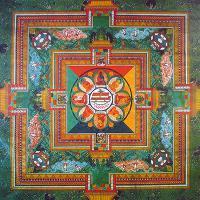 Плакат Мандала Будды Медицины (30 x 30 см).