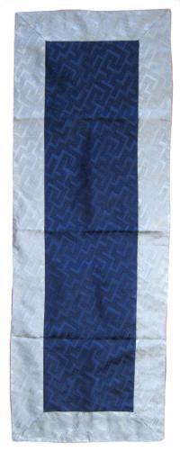 Купить Алтарное покрывало (синее с серой окантовкой), 38 x 108 см в интернет-магазине Dharma.ru