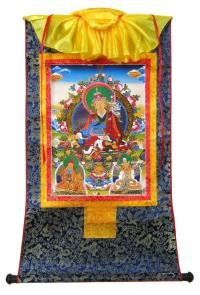 Тханка Гуру Падмасамбхава (печатная, тханка 54 х 82 см, изображение 30,5 х 43,5 см).