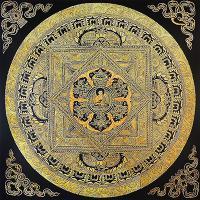 Плакат Будда с Благоприятными Символами (30 х 30 см).