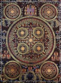 Плакат Мандала 5 кругов (30 x 40 см).