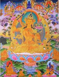 Плакат Манджушри в окружении божеств (30 x 40 см).
