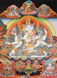 Плакат Ушнишавиджая в окружении божеств (30 x 40 см).