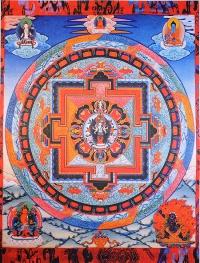 Плакат Мандала Авалокитешвары (30 x 37 см).