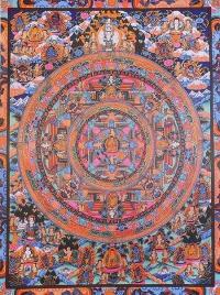 Плакат Мандала с божествами (30 x 40 см).