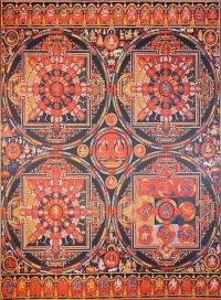 Плакат четыре Мандалы (30 x 40 см).
