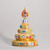 Купить Набор для подношения мандалы (желтый, 18 см) в интернет-магазине Dharma.ru