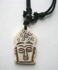 Амулет Голова Будды (белый).