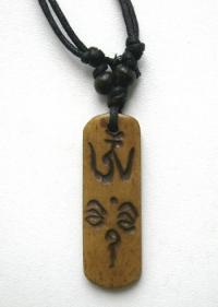 Амулет с ОМ и Глазами Будды (4,8 см).