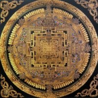 Плакат Мандала Калачакры (30 x 30 см).