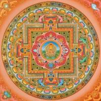 Плакат Мандала Будды (30 x 30 см).
