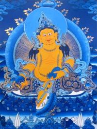 Плакат Дзамбала на синем фоне (30 x 40 см).