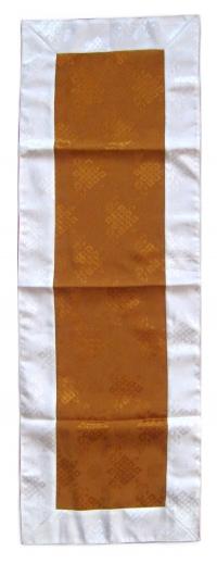 Алтарное покрывало (коричневое с белой окантовкой), 39 x 111 см.