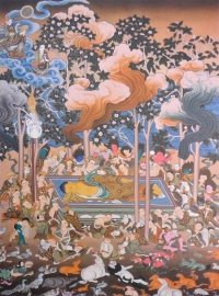 Плакат Паринирвана Будды (30 x 40 см).