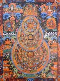 Плакат Тройная мандала Будды (30 x 40 см).