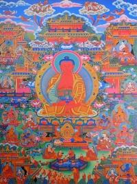 Плакат Чистая земля Будды Амитабхи (27 x 40 см).