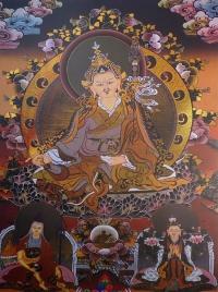 Плакат Падмасамбхава (желто-коричневый фон, 30 x 40 см).