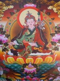 Плакат Падмасамбхава (бело-оранжево-коричневый фон, 30 x 40 см).