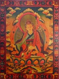 Плакат Падмасамбхава (красная нарисованная рамка, 30 x 40 см).