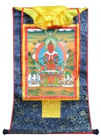 Купить Тханка Це-лха нам сум (Амитаюс, Ушнишавиджая и Белая Тара) (печатная, 54 х 82 см) в интернет-магазине Dharma.ru