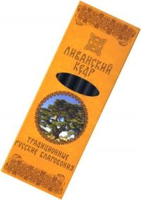 Купить Традиционные Русские Благовония Ливанский кедр, 7 свечек по 11,3 см в интернет-магазине Dharma.ru