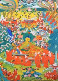 Плакат Будда Шакьямуни уходит в паринирвану (30 x 40 см).