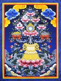 Плакат Аштамангала в нарисованной рамке (30 x 40 см).