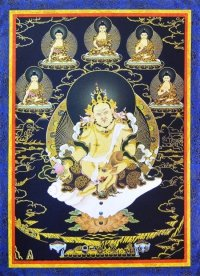 Плакат Дзамбала и 5 будд (30 x 40 см).