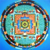 Плакат Мандала Ваджракилаи (30 х 30 см).