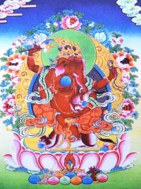 Плакат Ганеша красный (30 x 40 см).