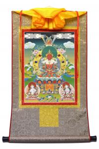 Тханка Це-лха нам сум (Амитаюс, Ушнишавиджая и Белая Тара) (печатная, 51 х 82 см).