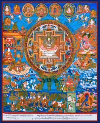 Плакат Мандала в окружении божеств (30 x 37 см).