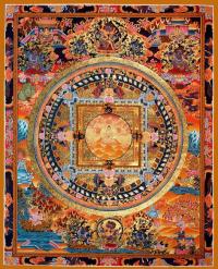 Плакат Мандала Золотой Будда (30 x 37 см).