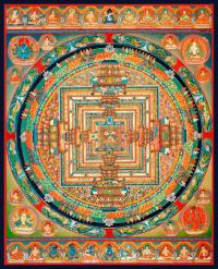 Плакат Мандала Калачакры (30 x 37 см).