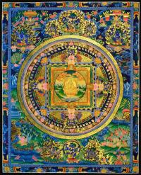 Плакат Мандала синеватая (30 x 37 см).