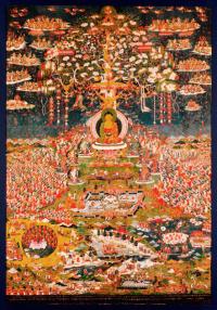 Плакат Чистая земля Будды Амитабхи (28 x 40 см).