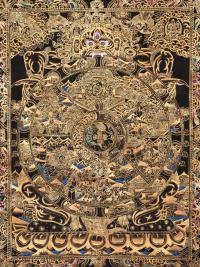 Плакат Колесо сансары (желтовато-черный, 30 x 40 см).